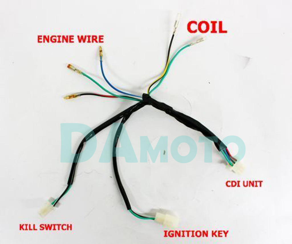 250cc Quad Electrics 150 200cc Zongshen Lifan Ducar Razor Cdi Coil Loncin 250 Atv Wiring Diagram Harness Loom For Crf 50 70 110 Klx Ttr Kick Start Pit Dirt Bike 125