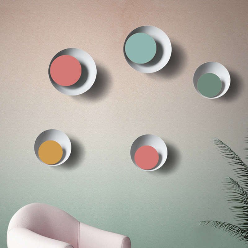 Sconce Colorful round LED wall lamp Nordic simple modern  dining room bedroom LED Wall lighting Can be rotatable 300 degree modern acrylic led wall lights bedroom bedside wall lamp lampara de pared bed room decoration lighting wall sconces