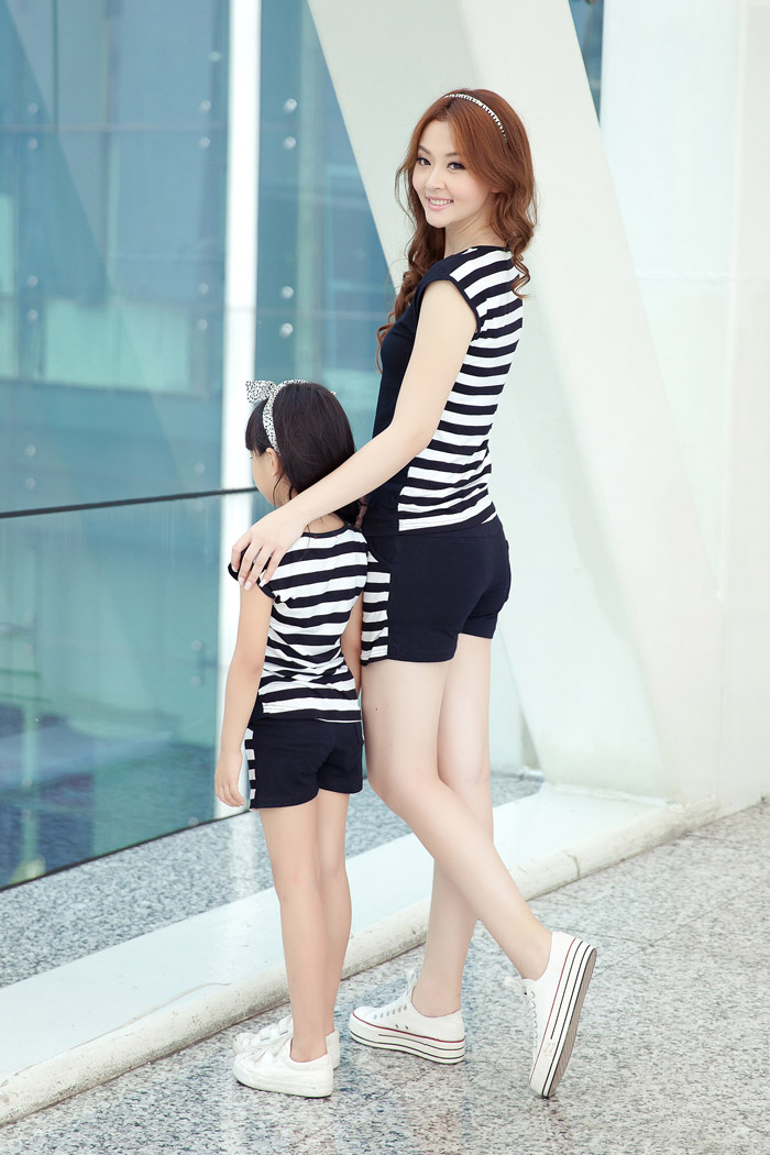 Family Fashion Summer Set Clothes For Mother And Daughter Stripe Sports Skirt Set Matching Mother Daughter Clothes Kado Shop Is Presents And Cadeaux To Gift