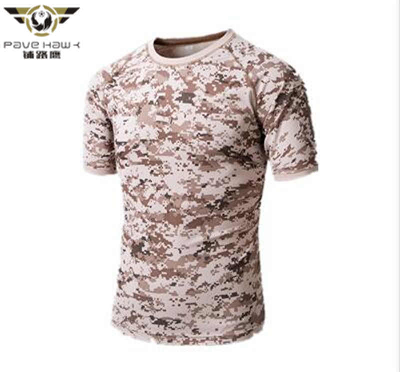 2017 Summer Camouflage T-shirt Men Breathable Army Tactical Combat T Shirt Military Dry Camo Camp Tees
