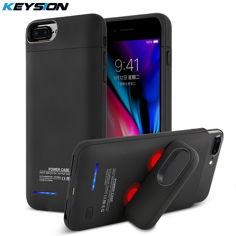 Keysion 3000/4200Mah Moveable Charging Case For Iphone eight 7 6S Plus Battery Energy Financial institution Battery Charger Case Cowl For I8 7 6 8P