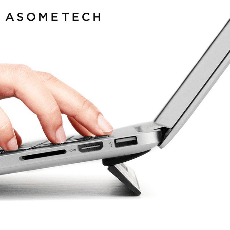 Ergonomique stand D'ordinateur Portable Pour Macbook air 13.3 Pro Portable réglable Bureau Ordinateur Lapdesk Bureau Noir PC Notebook Riser Stand