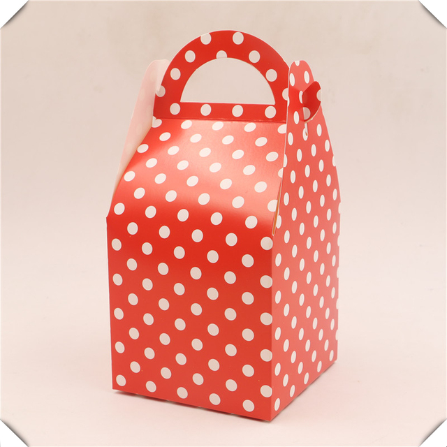 Kids Favors Child Birthday Red Polka Dots Paper Gifts Bo Baby Shower Wedding Party Decor