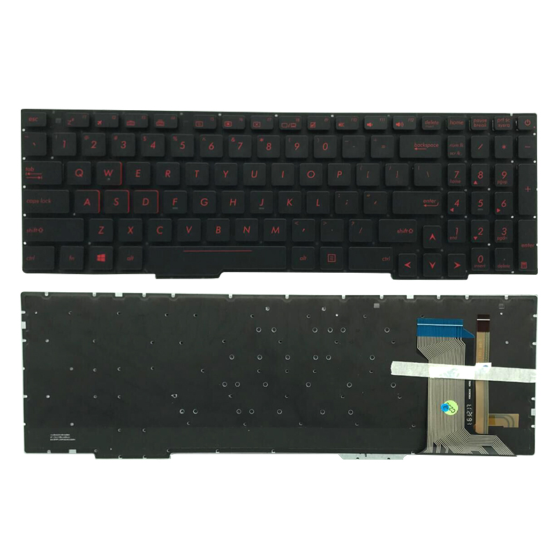 For ASUS GL553 GL553V GL553VW ZX553VD ZX53V ZX73 FX553VD FX53VD FX753VD FZ53V US Black backlit Laptop Keyboard