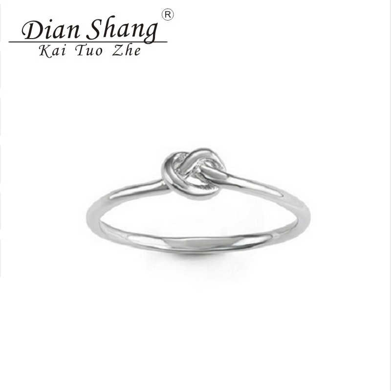 2017 Minimal Anel Masculino Celtic Knot Rings For Women Charm Purity Love Engagement Ring Couples Promise Jewelry Bague Femme