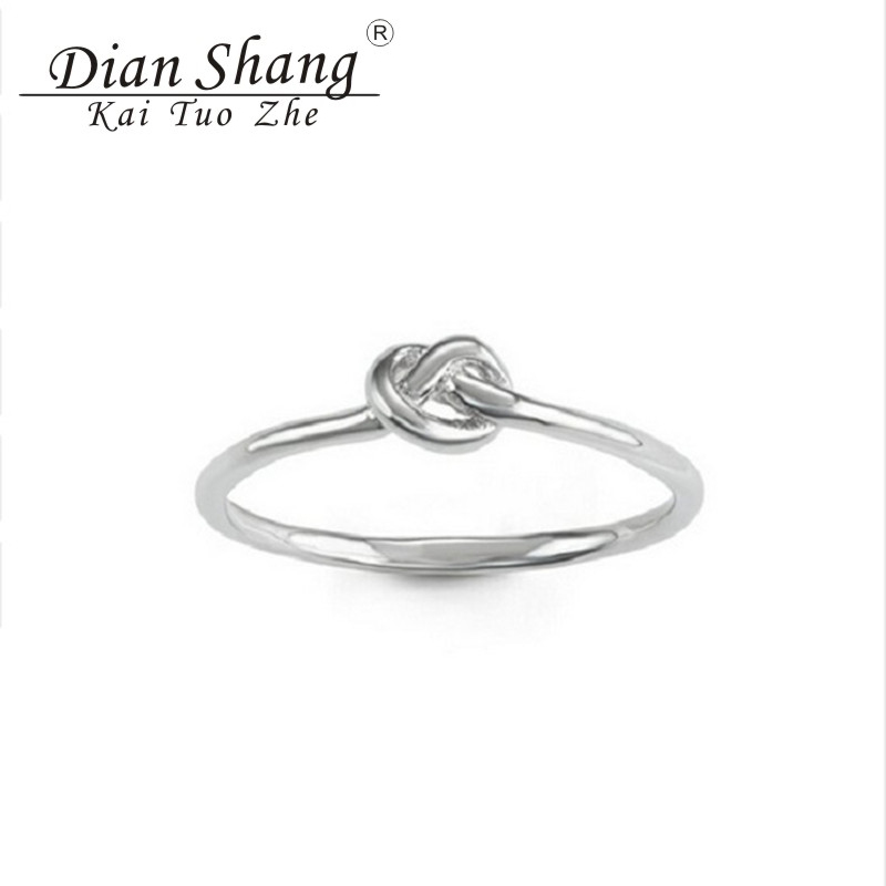 2017 Minimal Anel Masculino Celtic Knot Rings For Women Charm Purity Love Engagement Ring Ζευγάρια Υπόσχεση Κοσμήματα Bague Femme