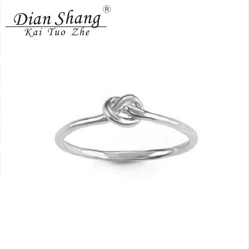 ᐃ2017 mínimo anillo nudo celta Anillos para las mujeres encanto ...