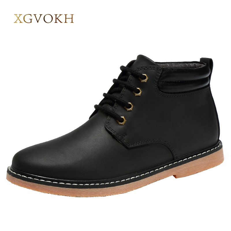 Mens boots Classic Cow Leather big size Super Warm Men's Winter Man xgvokh brand Snow Boots Leisure Boots Retro Shoes For Men big size winter warm leisure shoes