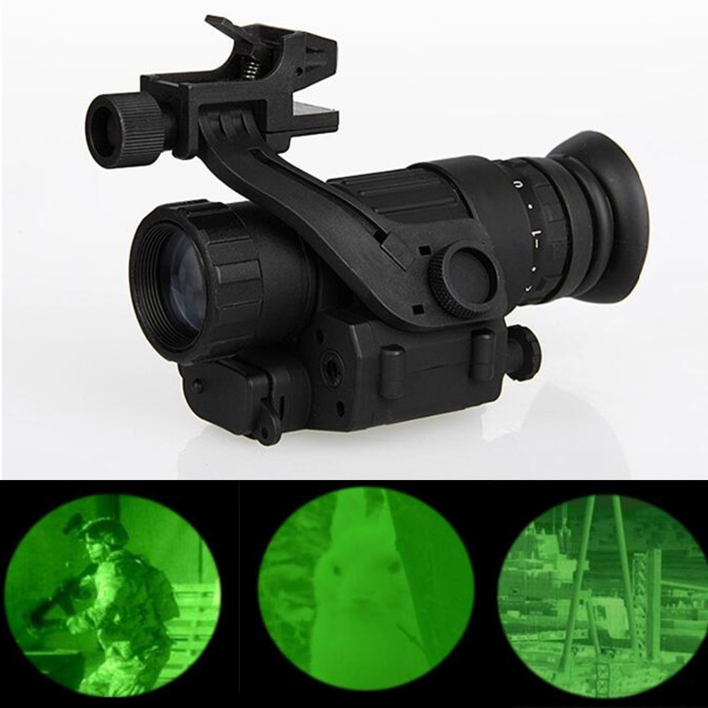 PVS-14 Hunting Night Vision Riflescope Monocular Device Waterproof Night Vision Goggles Digital IR Illumination For Helmet hunting night vision riflescope monocular device waterproof night vision goggles pvs 14 digital ir illumination for helmet new page 2