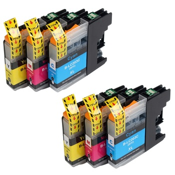 6PK 2 cian + 2 Magenta + 2 amarillo cartuchos de tinta para Hermano LC201 LC-201 LC 201 203 203XL LC203XL con Chip MFC-4320DW MFC-J4420