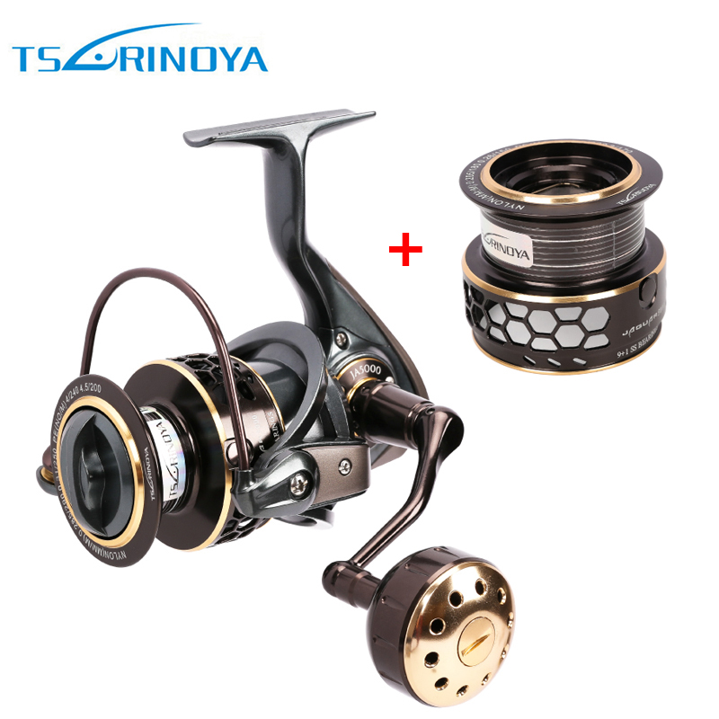 Jaguar Series 1000 2000 3000 4000 5000 Double Spool Stainless Steel Bearing Ultra-light Lure Spinning Reel Rocky Fishing reel kastking kodiak 2016 hot sale 2000 5000 series aluminum spool superior ratio 5 2 1 spinning fishing reel spinning reel