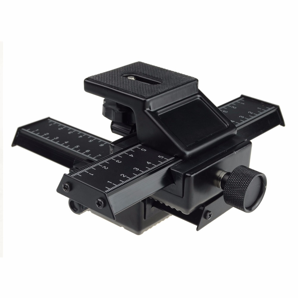 лучшая цена Free Shipping Special Design 4 way Macro Focusing Rail Slider for CANON NIKON PENTAX
