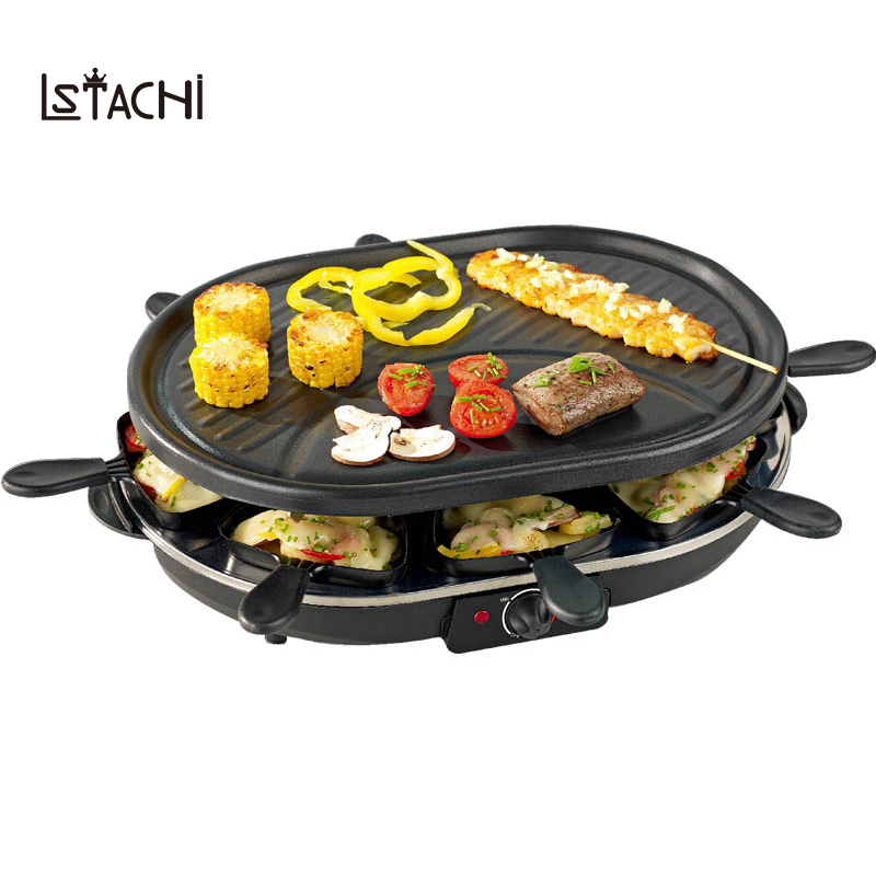 LSTACHi Household double layer electric barbecue grill smokeless BBQ Indoor grill electric grill pan Household Smokeless Grill royal grill