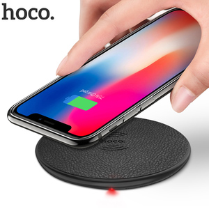 Image 1 - HOCO Wireless Charger for iPhone X XR Xs 8 Qi Wireless Charging Pad for Samsung S9 S8 Plus Xiaomi Mi 9 USB Mobile Phone Charger