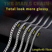 Байер 316L нержавеющая сталь трендовая ширина цепи 3 мм/4 мм/5 мм/6 мм ожерелье Мальчик Человек властная личность хип-хоп ювелирные изделия LBN1025