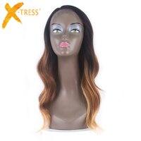 Ombre коричневый Блондинка Тело Волна Синтетические волосы на кружеве парики из синтетических волос длинные волнистые боковая часть розовый ...