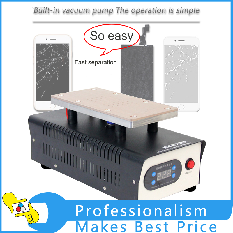 220V/110V TBK-988 7 inch Lcd Separating With Built-in Vacuum Pump Touch Screen Separator Machine For Mobile Phone Repairing youyue 948s lcd screen separator machine touch screen digitizer removal for smart mobile phone 7 inch and below