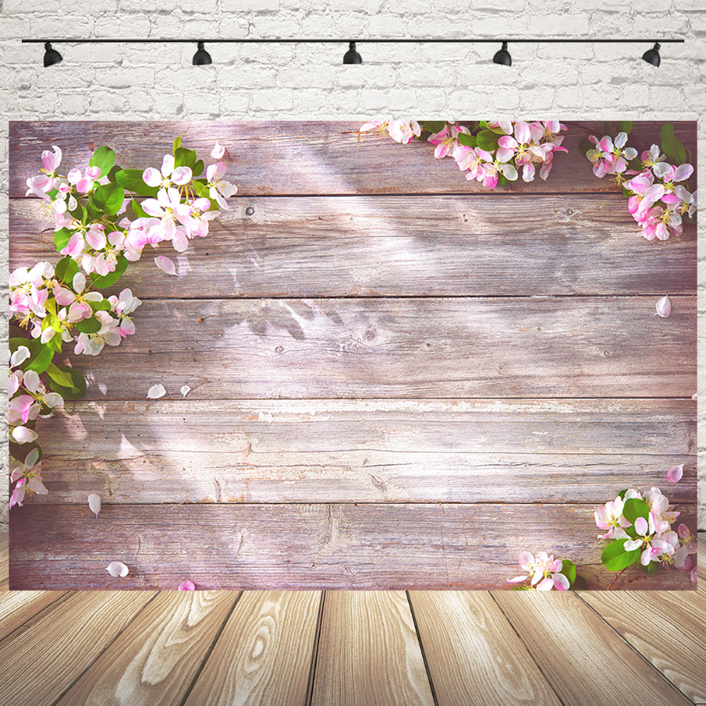 Mehofoto Wooden Photo Backdrop Spring Backdrops Flower Photography Backdrop Wedding Party Banner Backgroud in Background from Consumer Electronics
