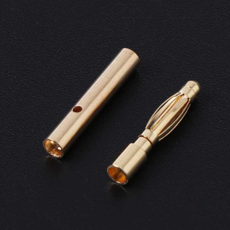 20 пар 2 мм пуля разъем бесщеточный двигатель Банан вилка ESC Батарея аксессуар высокое качество