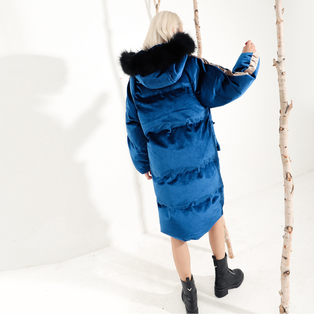 Et Collier Qd957 Chart Coton bleu Moyen Épais Laine Veste See D'or De Long Nouvelle Pain Terme Velours Avec Chapeau gwEFTxqnZ7