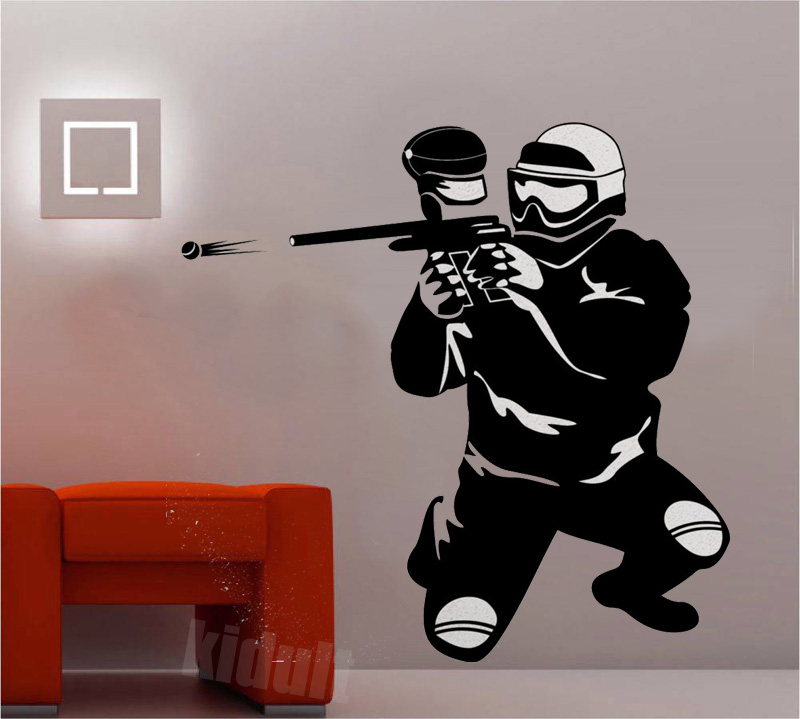 Extreme Sports Shooting Modern Home Life Wall Stickers Decorative Wallpaper Wallpaper Black and White Decals Vinyl Wall Stickers