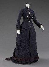 19th Century Victorian Dress – 1877 Natural Form Victorian Bustle Dress