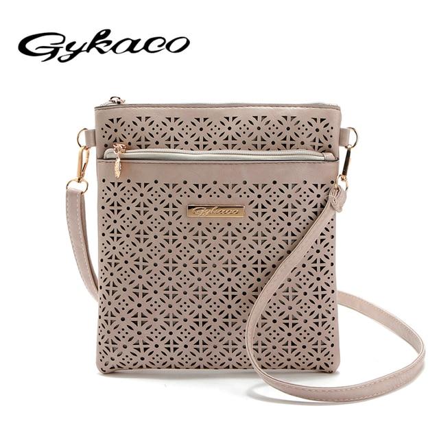 8c4915d44de9 2018 Small Casual women messenger bags PU hollow out crossbody bags ladies  shoulder purse and handbags