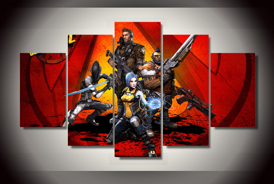 Unframed New Poster Borderlands Game Modern Painting On The Wall Art Canvas Pictures For Living Room Home Decor Modular Pictures image