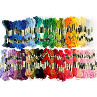 100pcs Multi Colour Thread Cross Stitch Manual Sewing Line Polyester Cotton Embroidery Thread DIY Crafts
