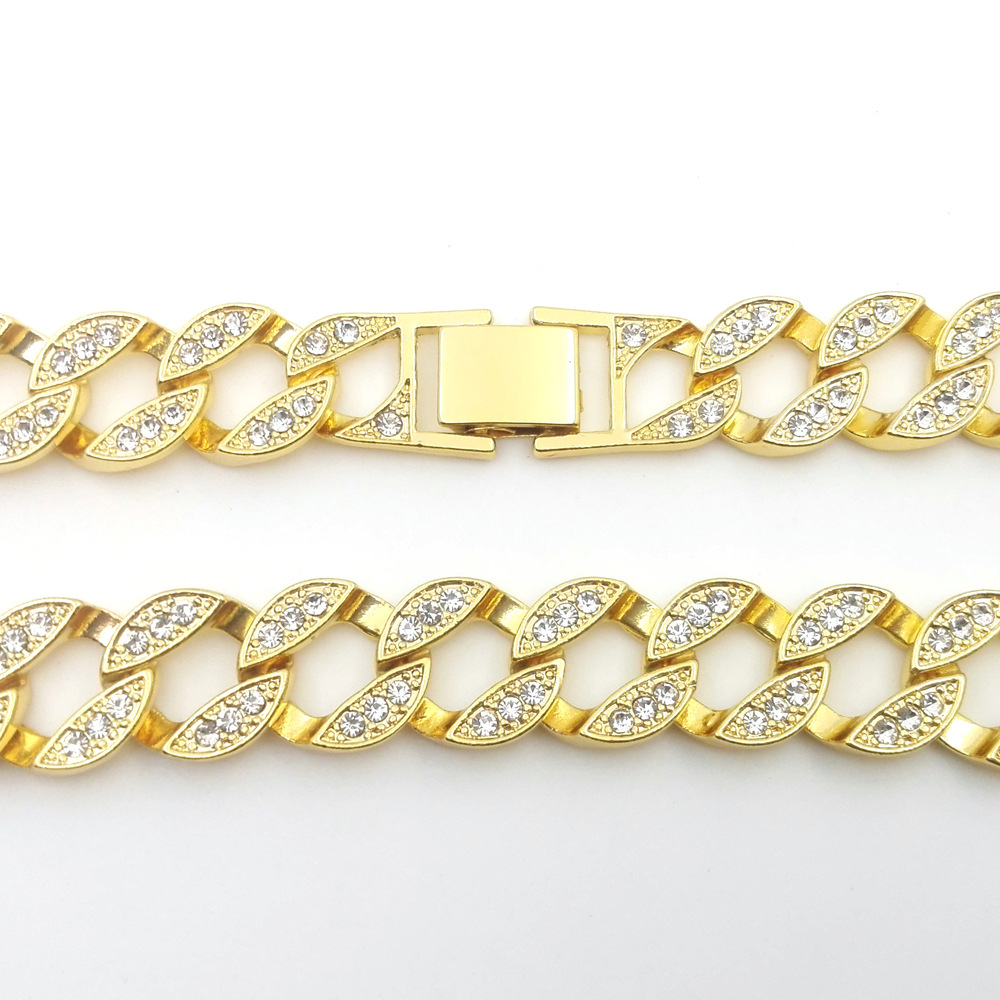 The Cheapest Price 18 K Yellow Gold Lab Cz Stone Cuban Chain Link Micro Pave Miami Nb Iced Out Men Necklace 140g 76cm 30inch 15mm Wide Necklaces & Pendants