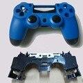 Для DualShock 4 Контроллер Playstation 4 Ps4 Матовая Дело Жилищного Shell Синий + Черный Матовый С Внутренней Рамкой Внутренняя Поддержка