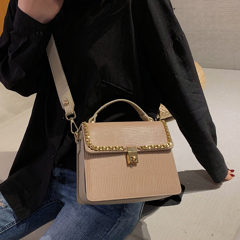 Vintage Fashion Female Tote bag 2019 New High Quality PU Leather Women's Designer Handbag Serpentine Lock Shoulder Messenger Bag 4