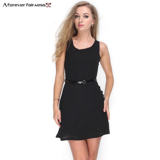 Sleeveless Mini Chiffon Dress