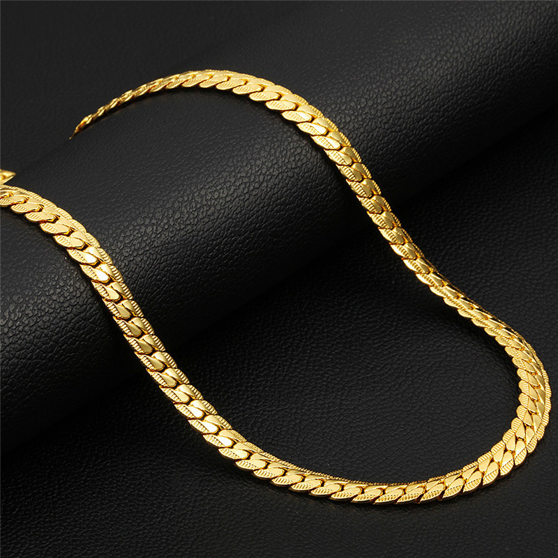 Stainless Steel Men Necklace Gifts for Mens Women Hip Hop Long Choker Male Gold Chain Necklaces 2019 Males Figaro Accessories