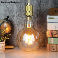 big size G150 Vintage led lamp Edison bulb LED filament decor bulb 6W 220V light bulb warmth glow replace incandescent bulb