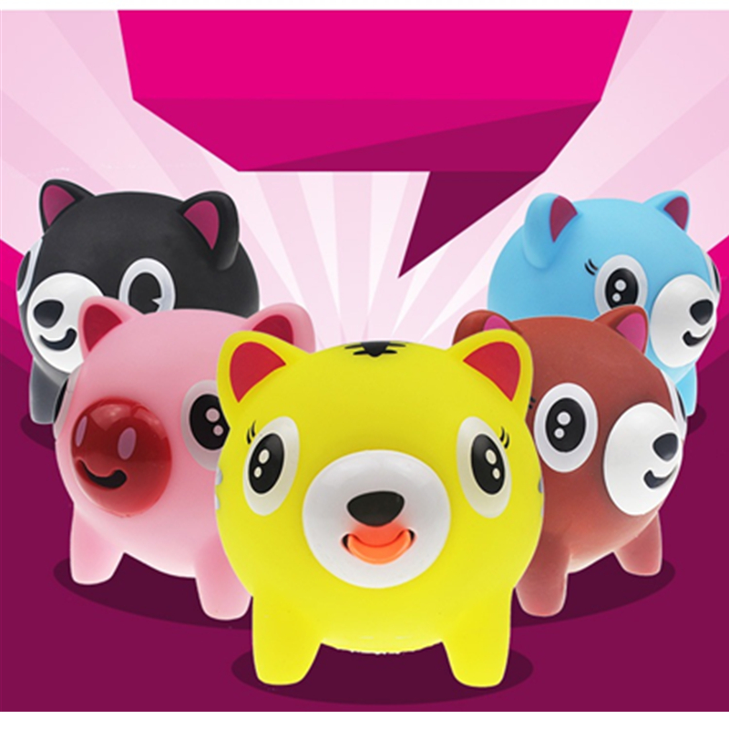 Anti-stress Screams Tongue Doll Toys Rubber Pig Doll Toys Tricky Vent Toys for Baby Office Worker Anti Stress Random Color