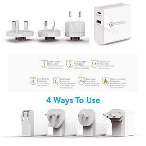 Image 2 - 48W QC 3.0 Quick Charger 3.0 PD Type C USB Charger for Samsung iPhone Huawei Tablet Fast Wall Charger US EU UK AU Plug Adapter