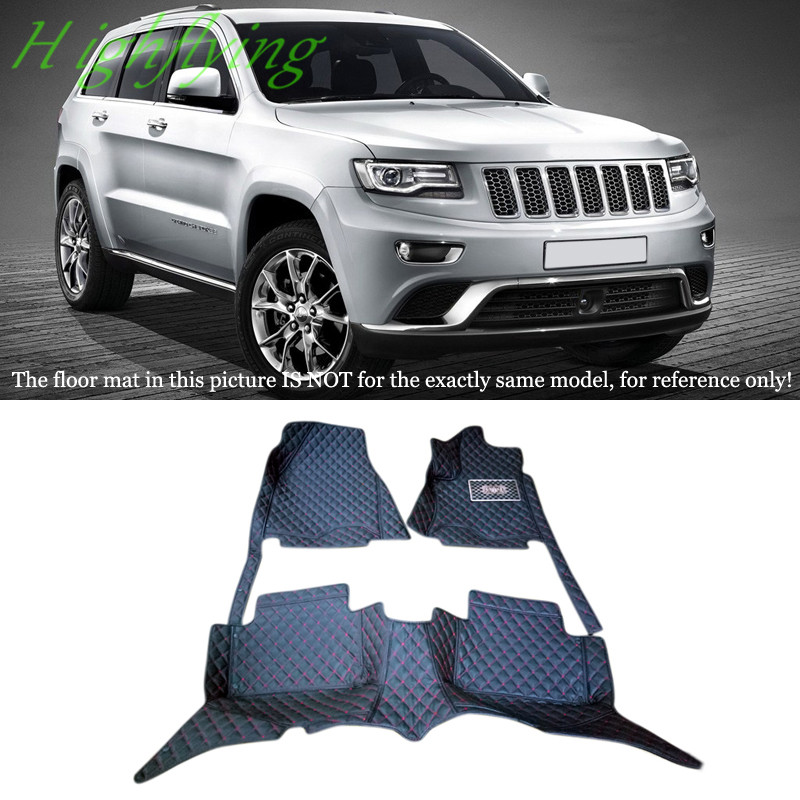 цена Interior Molding Accessories Floor Mats & Carpets Foot Pads Protector For Jeep Grand Cherokee 2014 2015 2016