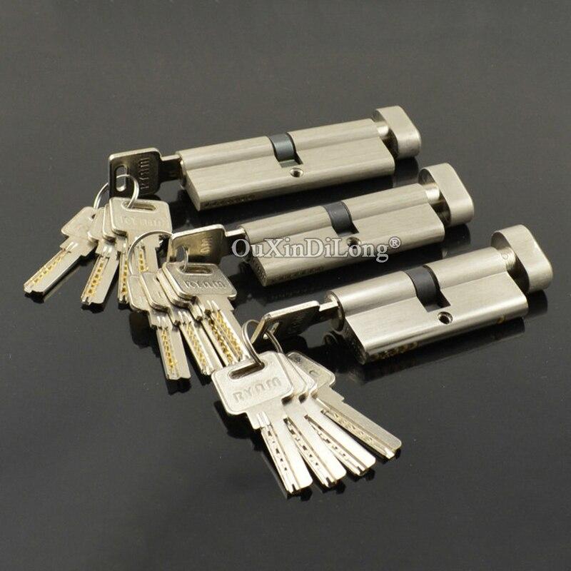 Brand New 1PCS European Mortise Door Lock Cylinder Interior Door Lock Cylinder Keys Lock Gall 70mm