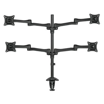 "Aluminum Alloy 13""-24"" Professional 4 Screen LCD TV Mount Multifunctional Table Clamping Monitor Holder Rack DM1004"