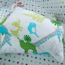 i-baby Safari Newborn Baby Infant Cartoon Crib Bedding Set 5pcs Cute Animal 100% Cotton Printed Sheet Duvet Pillow Cot Sets