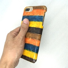 Luxury Colorful Genuine Leather Case For iPhone 6 6S Plus 5.5 4.7 Cell Phone Crocodile Pattern Back Cover