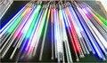80 cm 5050 SMD 72 leds / tubo , RGB cor queda de neve led meteoro tubo 12 mm de diâmetro 10 pçs/set , de entrada