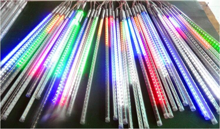 80 cm de long 5050 SMD 72leds/tube RVB couleur Neige Météore a mené le tube; 12mm de diamètre; 10 pièces/ensemble; AC90-260V d'entrée