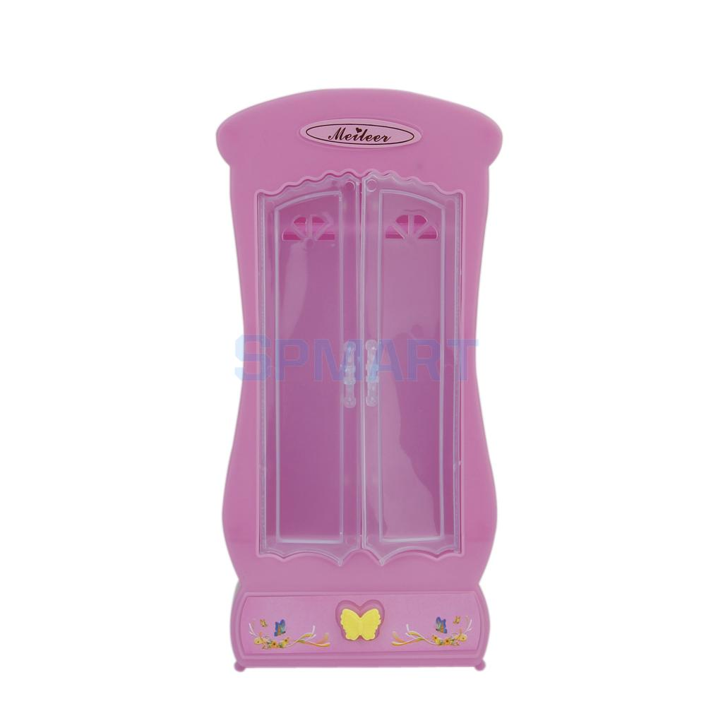 free shipping dollhouse miniature bedroom furniture closet wardrobe light pink or dark pinkchina - Shipping Bedroom Furniture