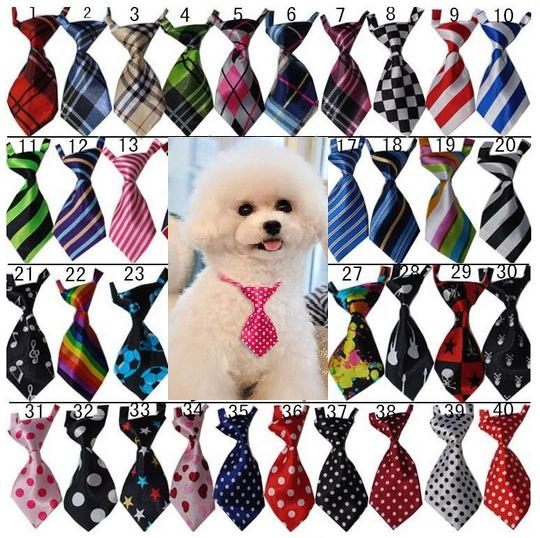 120pc lot Big Sale colorful handmade Adjustable Pet Dog Ties Pet Bow Ties Cat Neck ties