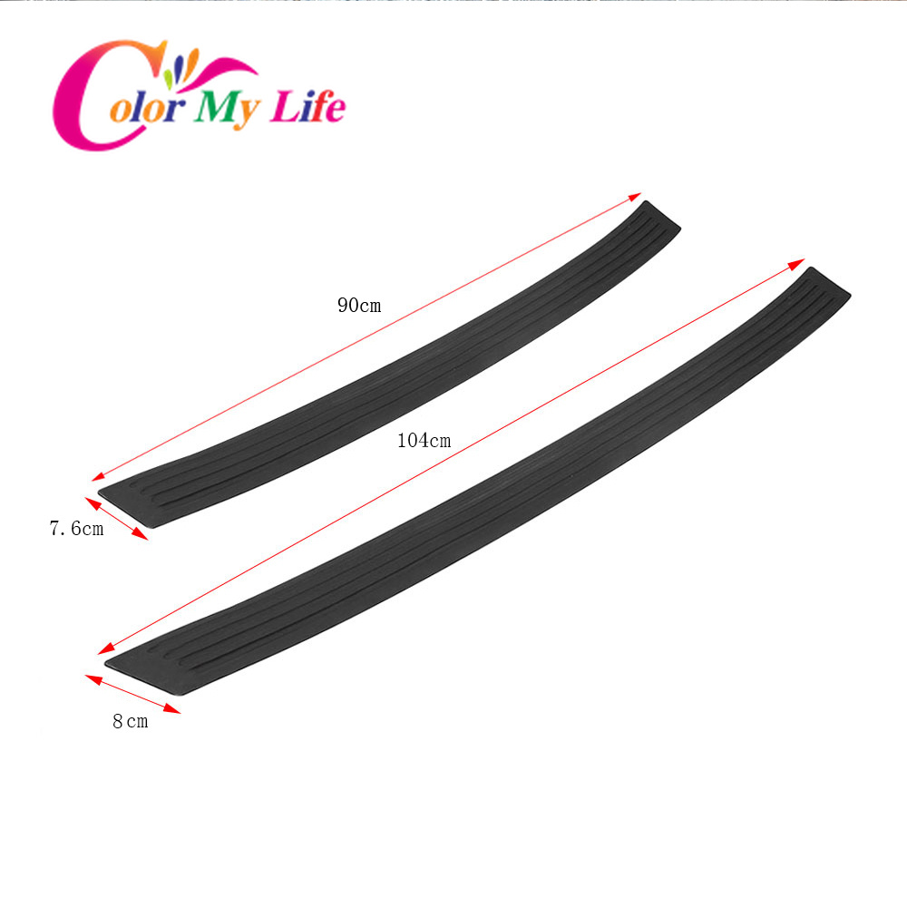 Image 2 - Rubber Car Rear Guard Bumper Protector Trim Cover Car Sticker Plate for Mercedes Benz W211 W221 W220 W163 W164 W203 W204 W163-in Car Stickers from Automobiles & Motorcycles