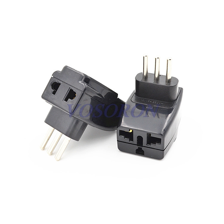 2016 3 Pin Travel Power Adapter Plug ITALY PLUG TYPE L 1 to 3 Splitter Universal UK/US/EU/AU 3 Pins / 2 Pins Socket to Italy replacement 3 7v 3500mah battery pack us eu plug power adapter for samsung galaxy note 2 n7100