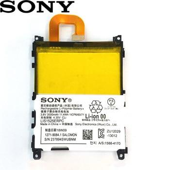 Sony 100% Original 3000mAh LIS1525ERPC Battery For SONY Xperia Z1 L39h L39 C6902 C6903 C6916 C6943 SO-01F L39T L39U Phone mooncase лич кожи кожа флип сторона кошелек держателя карты чехол с kickstand чехол для sony xperia z1 l39h грин