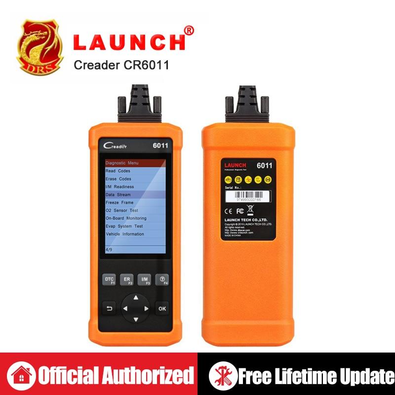 Original de Lançamento CReader 6011 CR6011 OBD2 EOBD Ferramenta de Diagnóstico Do Carro Lançamento Scanner Leitor de Código de OBDII Funções ABS SRS Sistema Completo